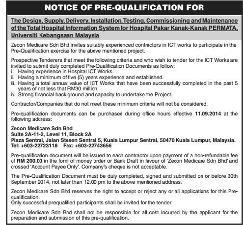 Notice of Pre-Qualification for Zecon Medicare